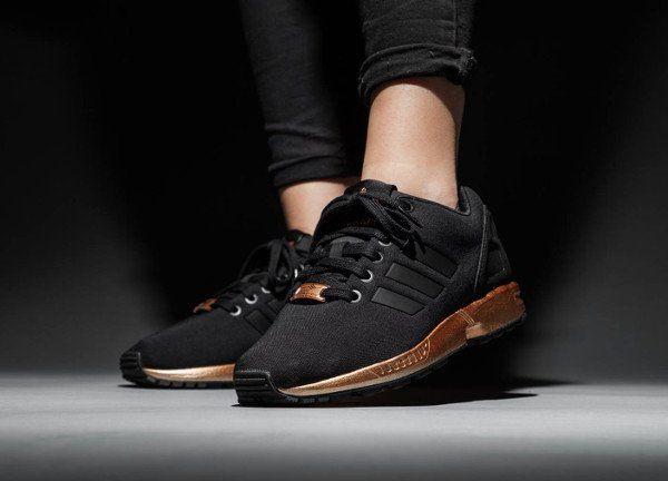 basket femme adidas zx flux or