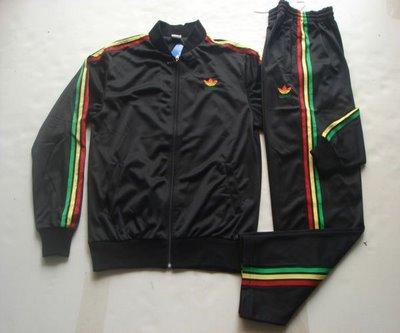 veste adidas noire bande vert jaune rouge